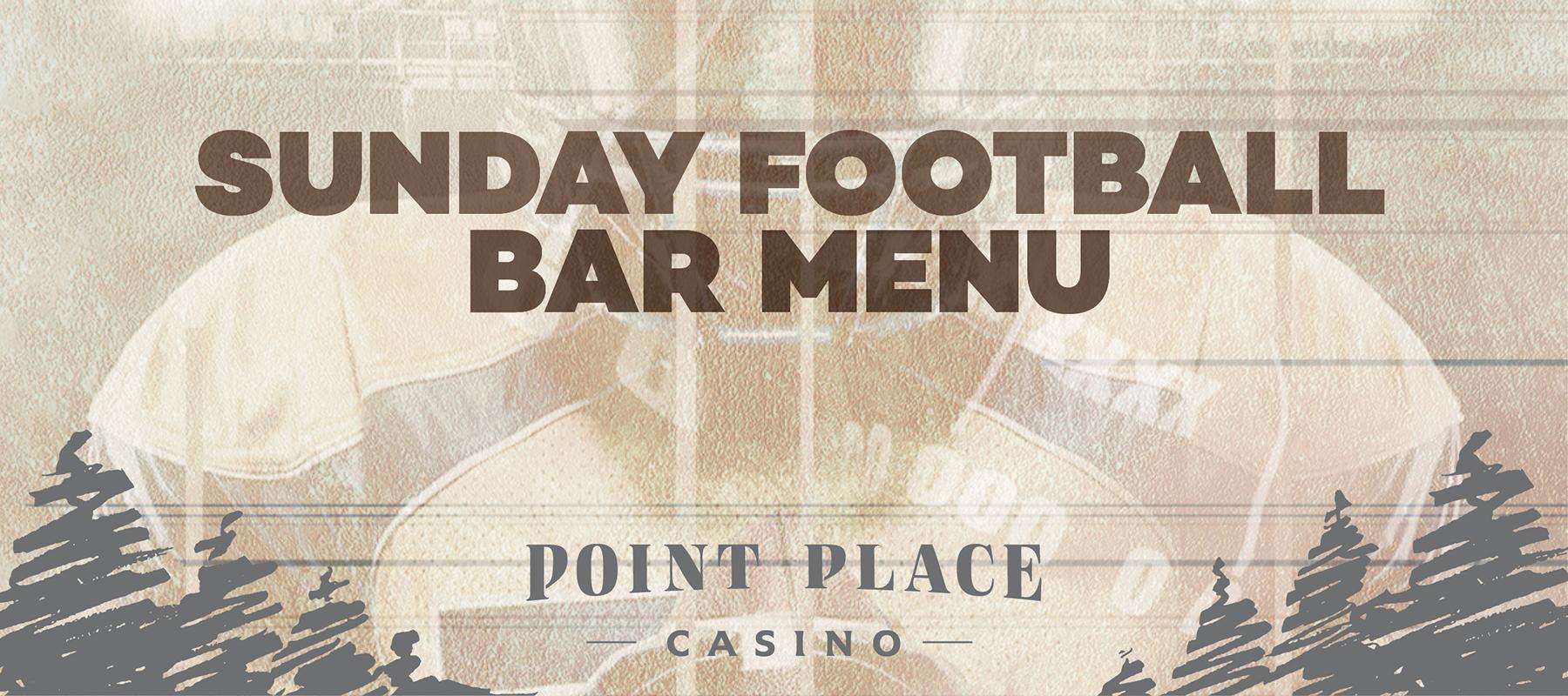 Sunday Football Bar Menu