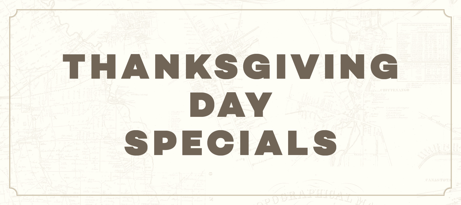 Thanksgiving Day Specials