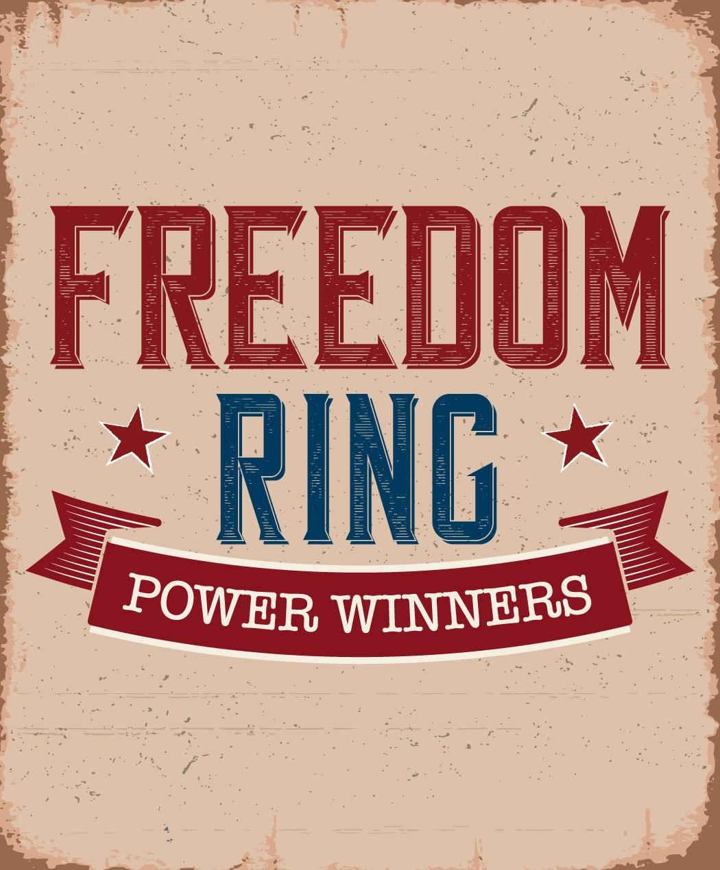 Freedom Ring Power Winners